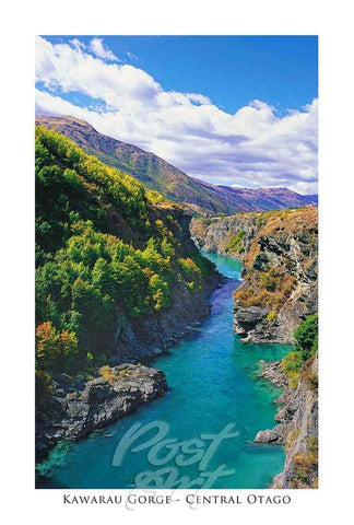 91 - Post Art Postcard - Kawarau River Gorge