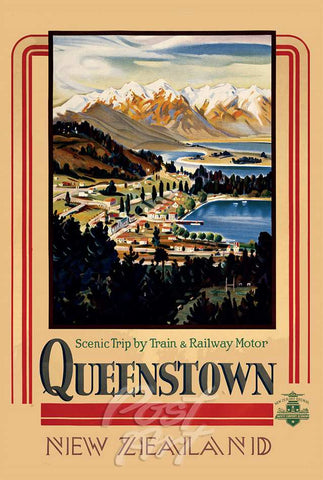 911 - Post Art Postcard - Queenstown Vintage