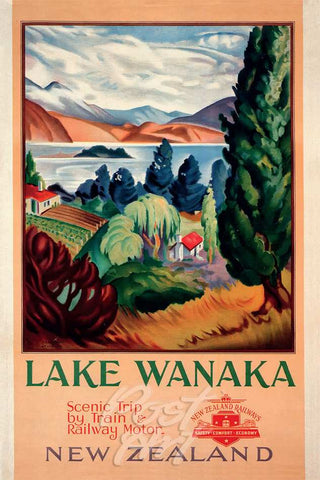 913 - Post Art Postcard - Lake Wanaka Vintage