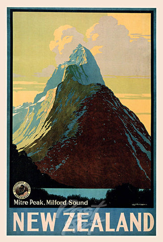 914 - Post Art Postcard - Mitre Peak Vintage