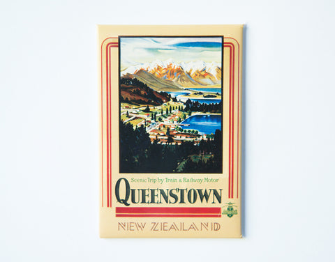 FM0031 - Post Art Magnet - Queenstown Vintage