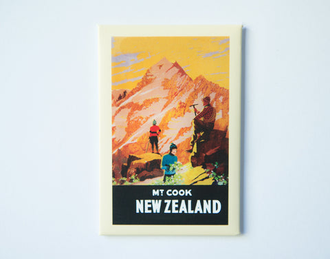 FM0038 - Post Art Magnet - Mount Cook Vintage