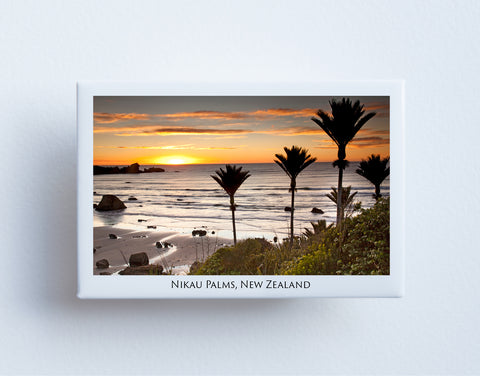 FM0046 - Post Art Magnet - Nikau Palms