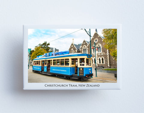 FM0055 - Post Art Magnet - Christchurch Tram