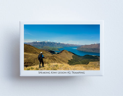 FM0082 - Post Art Magnet - Speaking Kiwi Lesson 2 - Tramping