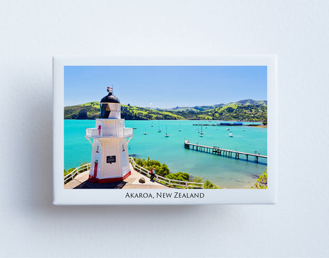 FM0090 - Post Art Magnet - Akaroa Lighthouse