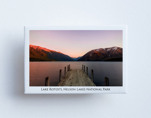 FM0094 - Post Art Magnet - Lake Rotoiti Jetty Sunset