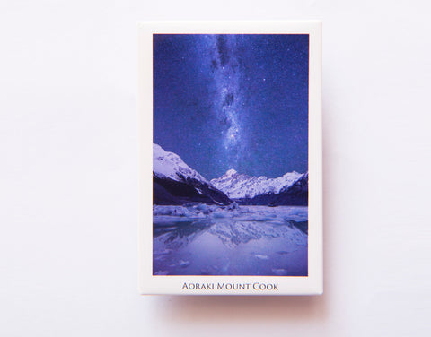 FM0105 - Post Art Magnet - Aoraki Mount Cook Milky Way