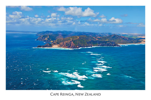 N53 - Post Art Postcard - Cape Reinga Oceans meet