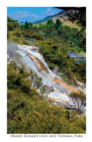 OK3 - Post Art Postcard - Orakei Korako Cave & Thermal Park