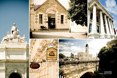 PCL1036 - Sisson Postcard - Oamaru Buildings Medley