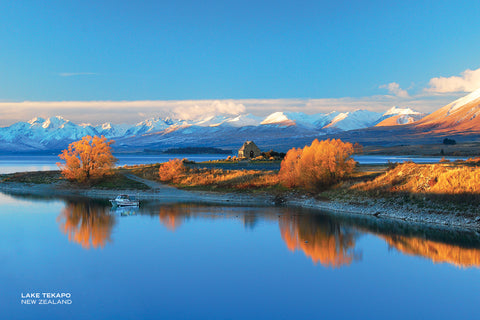 PCL1059 - Sisson Postcard - Lake Tekapo Autumn