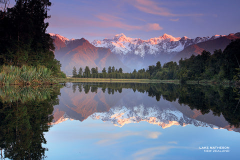 PCL1117 - Sisson Postcard - Lake Matheson Sunset
