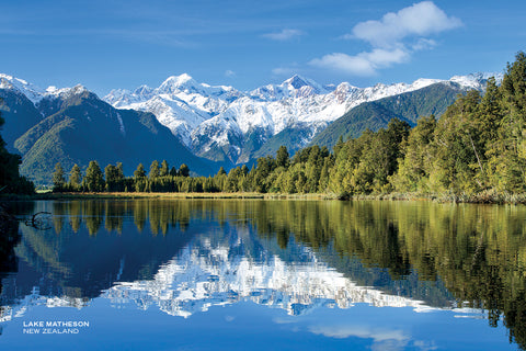 PCL1121 - Sisson Postcard - Lake Matheson Winter