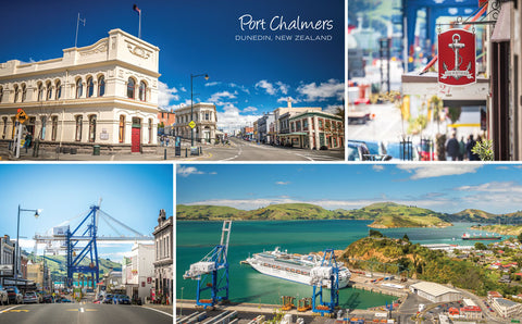 PCL1005 - Sisson Postcard - Port Chalmers Montage