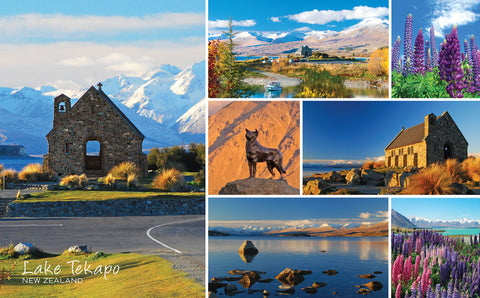 PCL1052 - Sisson Postcard - Lake Tekapo, Church of the Good Shepherd