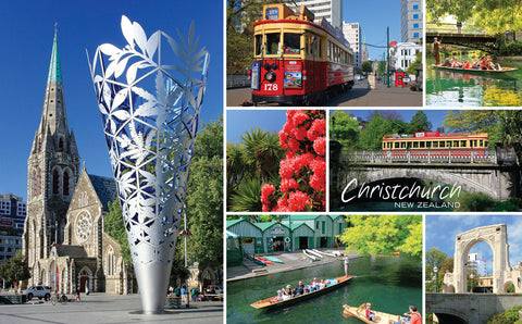 PCL1120 - Sisson Postcard - Christchurch Montage
