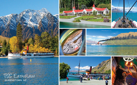 PCL1122 - Sisson Postcard - Earnslaw Montage