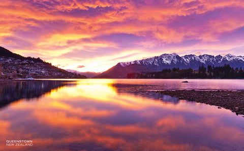 PCL1123 - Sisson Postcard - Queenstown Sunrise