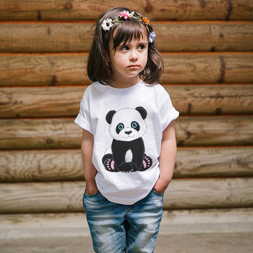 Panda Cartoon Cute Animal Print T-Shirt - IVEgoods