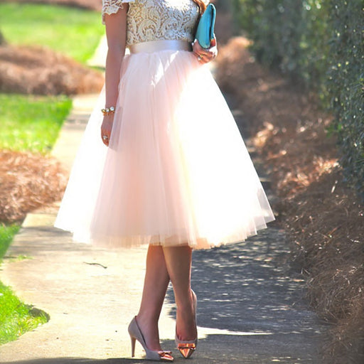 Ball Gown 5 Layers Tulle Skirt - IVEgoods