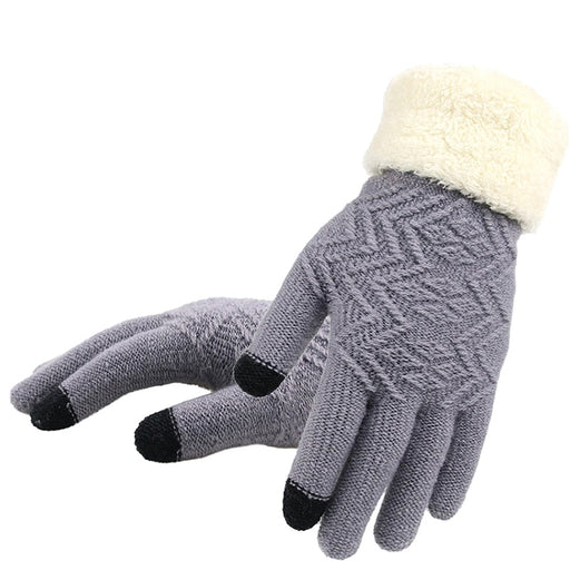 Full Finger Soft Stretch Knit Mittens - IVEgoods