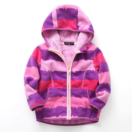 Striped polar fleece hoodies - IVEgoods
