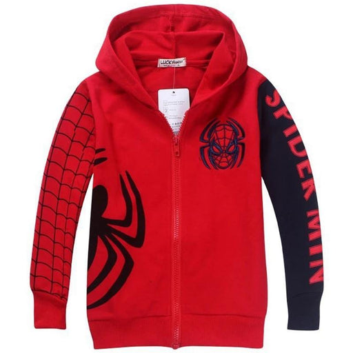 Spiderman Cartoon Pattern Hoody Jackets - IVEgoods