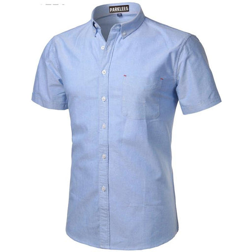 Short Sleeve Slim Fit Chemise Shirts - IVEgoods