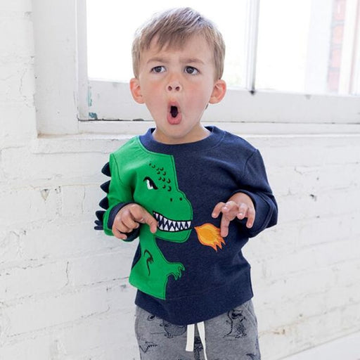 Angry Dinosaur Fleece Cotton Sweatshirts - IVEgoods