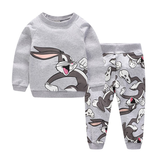 Cute Rabbit Printed Warm Clothing Sets - IVEgoods