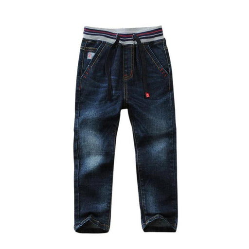High Quality Elastic Waist Cotton Jeans - IVEgoods