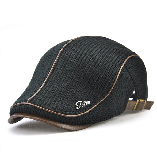 High Quality Knitted Leather Flat Cap - IVEgoods