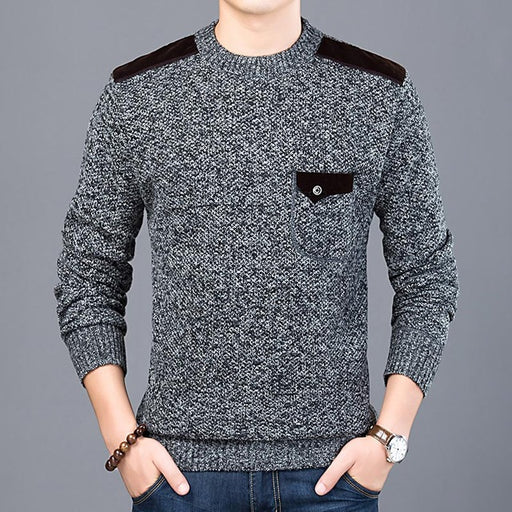 Blend Material Slim Fit  Jumpers - IVEgoods
