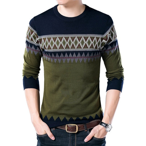 Wool Knitted O-Neck Casual Sweaters - IVEgoods