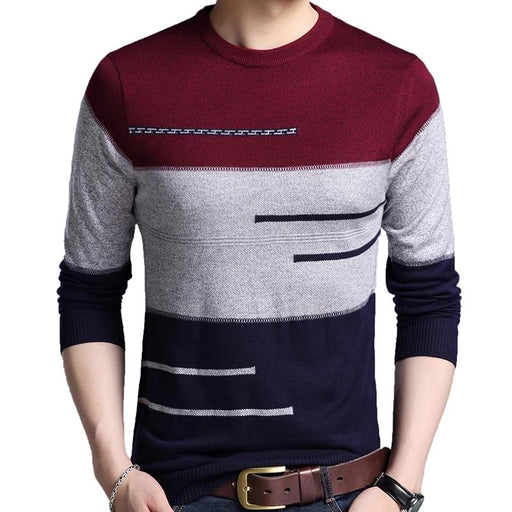 Knitted jersey striped sweaters - IVEgoods