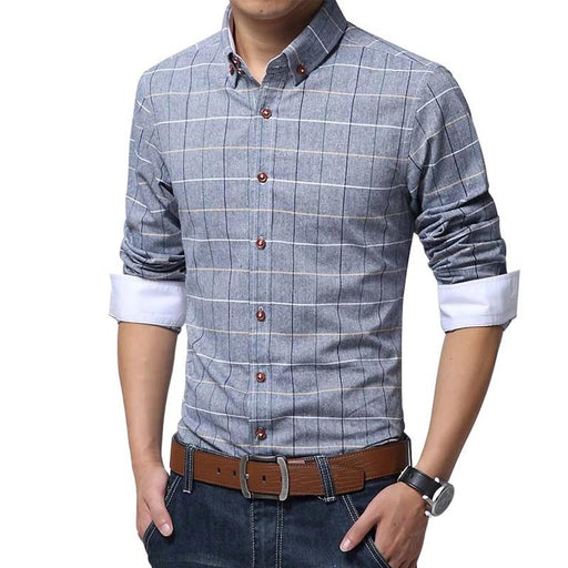 Long Sleeve Camisa Masculina Casual Shirt - IVEgoods