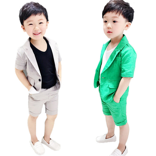 Short Sleeve Blazer+Shorts Clothing Sets - IVEgoods