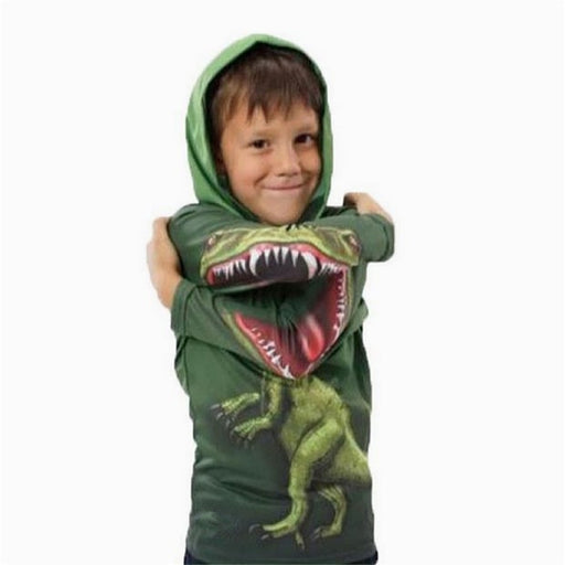 Dinosaur Long Sleeve Hooded Sweatshirt - IVEgoods