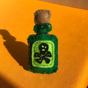 Poison Bottle Brooch
