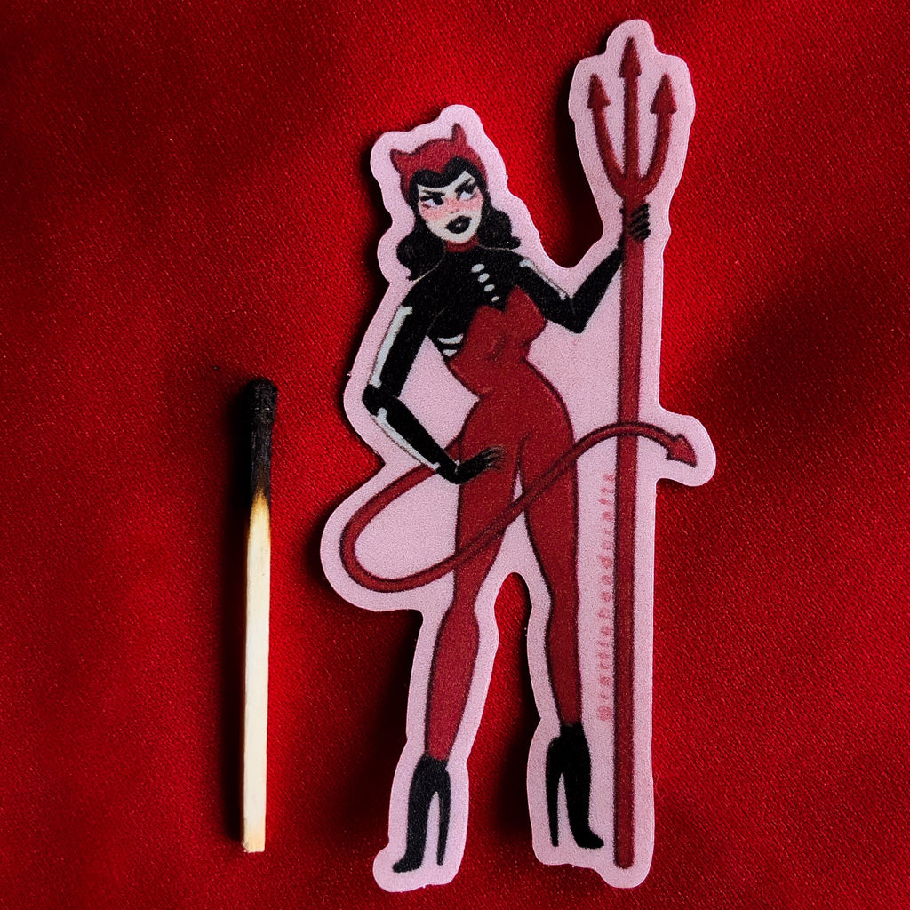La Diablita Mini Sticker
