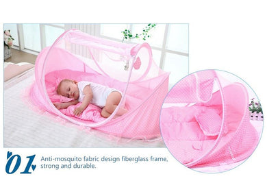 Foldable Crib With Mosquito Net
