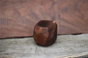 Hand made Black Walnut wood ring case