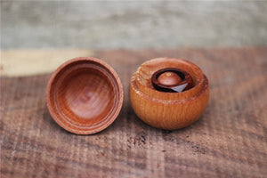 Hand made  Beech wood ring case