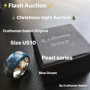 12/25/2017 Christmas night Auction  Pearl Series- Ocean Blue Silver Sleeve