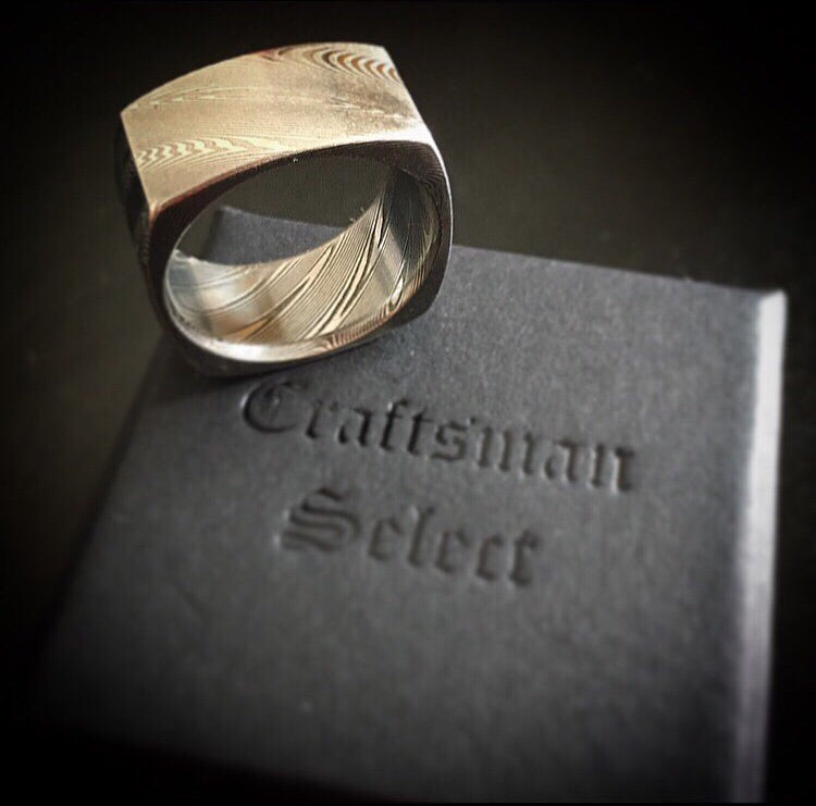Craftsman Select Feature - Square Cut Damascus Ring