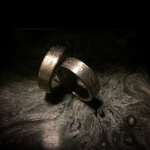 Handcrafted Damascus Band Ring