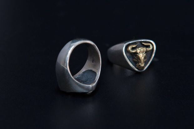 Hand Sculpted Bull ring