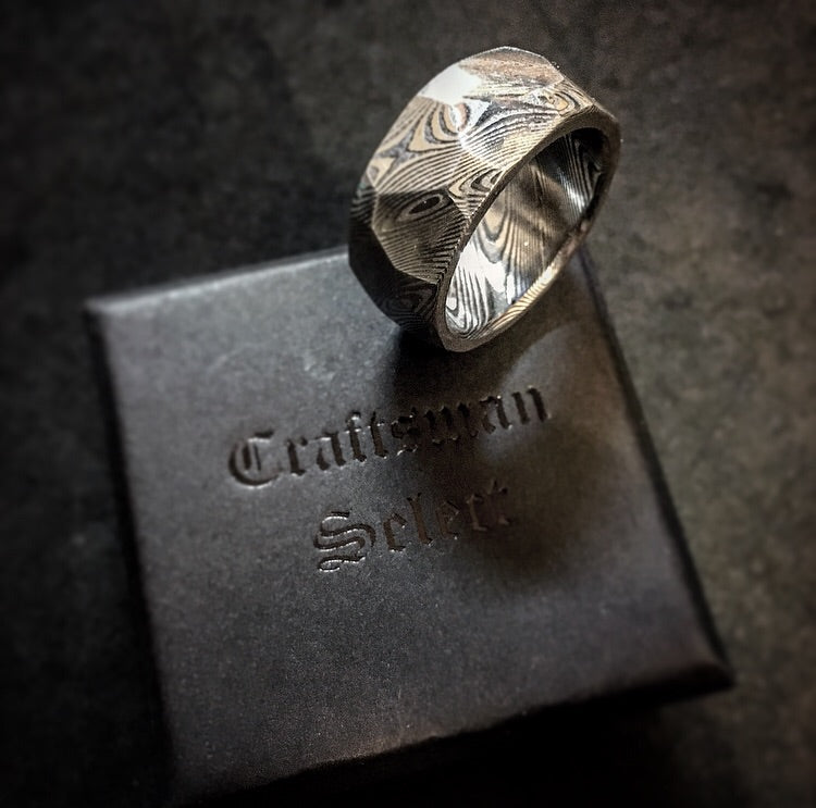 Craftsman Select Feature - Hexagonal Cut Damascus Ring