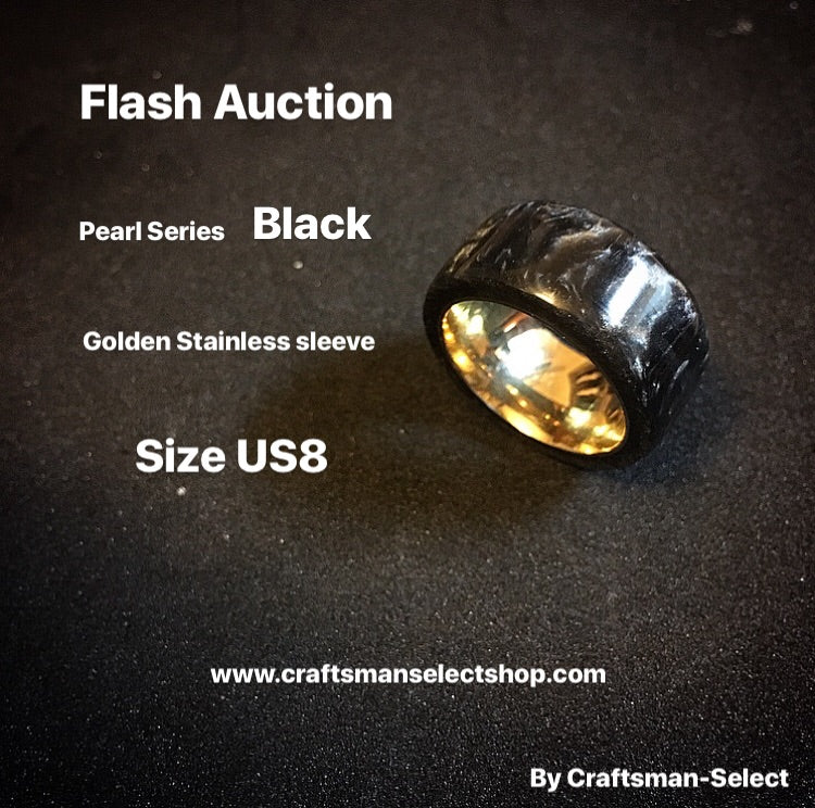 Auction 16/11/2017 Pearl Series - Black Pearl Golden Stainless Sleeve